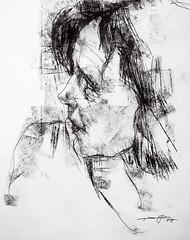 P1016821 (Gasheh) Tags: art painting drawing sketch portrait woman pen charcoal gasheh 2017
