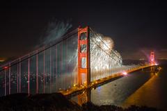 75th Birthday Golden Gate Bridge (Thomas Hawk) Tags: 75thbirthdaygoldengatebridge america batteryspencer california goldengatebridge marin marinheadlands sanfrancisco usa unitedstates unitedstatesofamerica bridge fireworks millvalley us feuerwerk fav10 fav25 fav50 fav100