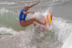 Pro Super Girl Surfing 43 Yellow And Pink (davidgibby) Tags: femalesurfer girlsurfing surfingphotography