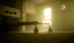 Forgotten (--Conrad-N--) Tags: beelitz beelitzheilstätten heilstätten window light low sony shadow wheel a7rm2 abandoned za zeiss lost place hospital