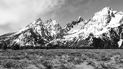 Cathedral Group in BW (rschnaible) Tags: grand teton national park us usa west western landscape tour tourist touring sightseeing mountains outdoor bw black white photography montone monchrome