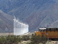 Wind power (thomasgorman1) Tags: windmills train california canon desert palm springs windpower locomotive railroad mountains socal