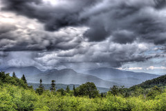 Storm over the White Mountains (macnetdaemon) Tags: white mountains outside outdoor nature storm sunlight sunbeams canon 7d markii hdr valley forest plant cloud