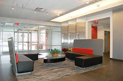 Thermo Fisher (OLSON LEWIS Architects) Tags: biotech ol commerical thermofisher entrance interior