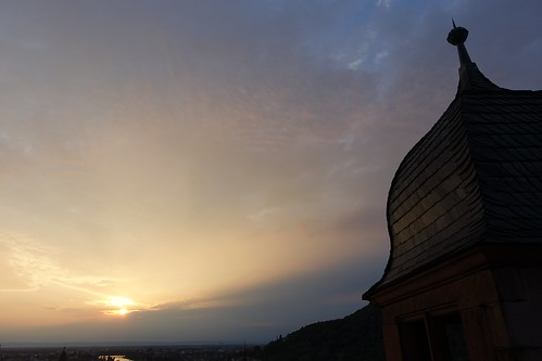 Dusk at Heidelberg Castle