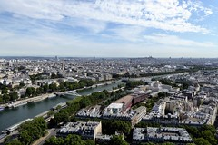 looking down on Paris from the Eiffel Tower (Muddy LaBoue) Tags: iledefrance monuments towers iconicarchitecture 1889 2017 july worldexposition eiffeltower paris france attractions tourism panasoniclumixdmctz60 summer tower city architecture
