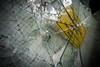 Statement (O.I.S.) Tags: sign schild eltern kinder splitter glass glas scherben shards gelb yellow lost place