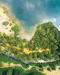 Formations (John Westrock) Tags: aerial djimavicpro dronephotography water goldcreekpond pacificnorthwest shore snoqualmiepass washington unitedstates us trees nature