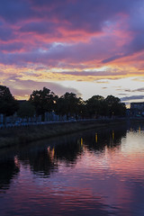 Cardiff sunset (Dai Lygad) Tags: cardiff wales uk summer outside sunset water rivertaff woodstreet city urban july 2017 photos photographs photography pictures images jeremysegrott reflections