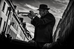jerry (Daz Smith) Tags: chosen dazsmith fujixt20 fuji xt20 andwhite bath city streetphotography people candid portrait citylife thecity urban streets uk monochrome blancoynegro blackandwhite mono musician singer trumpet musicalinstrument busker silhouette