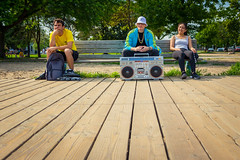 Beats on The Boardwalk (A Great Capture) Tags: boardwalk beach old school ghetto blaster stereo retro bench people kango addidas agreatcapture agc wwwagreatcapturecom adjm ash2276 ashleylduffus ald mobilejay jamesmitchell toronto on ontario canada canadian photographer northamerica torontoexplore summer summertime été 2017 city downtown lights urban cityscape urbanscape eos digital dslr lens canon 70d outdoor outdoors vibrant colorful cheerful vivid bright streetphotography streetscape street calle