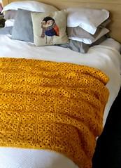 Mustard Granny Square Blanket (PaisleyJade) Tags: grannysquareblanket grannysquare crochet crochetblanket mustard granny square blanket