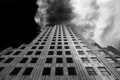 Where is Gozer? (zzra) Tags: building fine art black white contrast clouds dark sky architecture