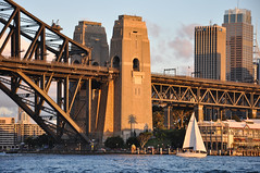 Sydney sunset (marin.tomic) Tags: australia australien downunder oz sydney syd city harbour harbourbridge sunset sail water sea travel nikon d90 newsouthwales