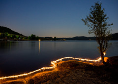My First light painting (J-e-Y) Tags: light painting lac du salagou france occitanie peinture lumineuse photographie night nuit long exposure pose longue sony alpha 6000 sigma 30mm lake spark etincelle