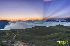 北峰頂反霞光夕陽 (ben888222444) Tags: 北峰 合歡山 夕陽 霞光 sony a7 sunset