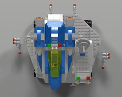 Space Fighter Carrier And Fighter Top (hornjesse896) Tags: legoclassicspace classicspace lddtopovray carrier spaceship spacefighter