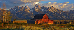 Grand Tetons and Mormon Barn Pano #4 (Anthony Kosobud - Photography) Tags: grandtetons mormonbarn mormon barn grand tetons wyoming kosobud