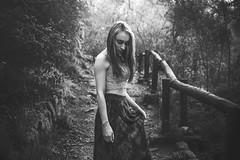 Chile | Santiago | Portrait (Medigore) Tags: girl light luz portrait retrato face gente mujer shadows sombras fotografia chile calle canon santiago street medigore sigma 1750 book forest magic black white