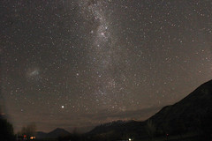 Bayonet Peaks (Matthew/Bond) Tags: stars milky way night sky trees mountains peaks remarkables queenstown nz newzealand astrophotography astro