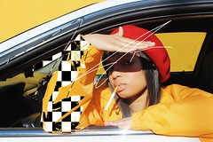 ACCORD (nychristinela) Tags: photoshop vsco canon accord honda beret wig checkered yellow red