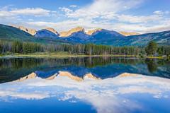 Rocky Mtn. (yarnim) Tags: estespark spraguelake landscape rx1 sony sonyrx1 carlzeiss 35mm mountain lake clouds reflection