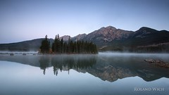 Jasper - Pyramid Lake (Rolandito.) Tags: canada kanada jasper pyramid lake morning fog