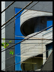 Reflective Deconstructivism (reassembling.visions) Tags: cables reflections architecture tokyo токио 東京市 aposonnart2135 carlzeiss manualfocus manuallens nikond800 abstract perspectivecorrection darktable