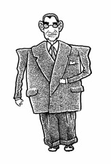 Big Suit (Don Moyer) Tags: man suit ink drawing sketchbook moyer donmoyer brushpen