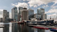 London   |   South Dock (JB_1984) Tags: southdock dock tower skyscraper canarywharf docklands water reflection skyline isleofdogs londonboroughoftowerhamlets london england uk unitedkingdom nikon d500 nikond500