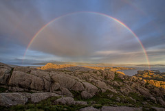 The Rainbow (Siggi007) Tags: rainbow light landscape seascape mountains view sky colors colores colorfull rocks serene seaview nature norway norge clouds sunset amazing coastline sognfjordane sognefjorden hardbakke paysage landschaft tranquil stunning canon 6d weather rain outside scenery
