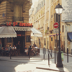 A sunny Paris corner (ninasclicks) Tags: paris corner cafe coffee street bar brasserie travel travelphotography