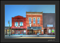 Morenci Storefronts (the Gallopping Geezer '4.8' million + views....) Tags: rextheater movie cinema theater old historic smalltown backroad backroads morenci mi michigan tonemap tonemapped processing photomatrix canon 5d3 geezer 2016 sign signs signage