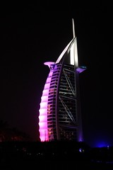 Burj al Arab (adellton) Tags: sailboat beach building night jumeira burj dubai burjalarab canon