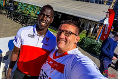 'Selfie' with Aliir Aliir at the Swans DAP Launch and Training SCG-4089 (A u s s i e P o m m) Tags: pyrmont newsouthwales australia au rainbowswans sydneyswans afl aliiraliir