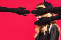 Hands (Charmaine de Heij) Tags: portrait conceptual contemporary conceptualportrait fashion femalemodel hands black red