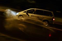 Drainage after rainage? (PChamaeleoMH) Tags: cars motion night oxford puddles rain splash warnefordlane