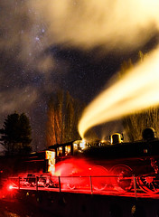 No. 428 on the turntable (TerminalCityNZ) Tags: waikari canterbury newzealand nz steamtrain station 428 no248 canoneos6d canonef2470f28liiusm steam train milkyway night astro
