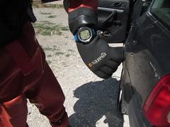 Very hot on the surface. (CZDiver) Tags: rubberdrysuit thordrysuit scubagear scubadiving divinggear drysuit scuba scubadiver