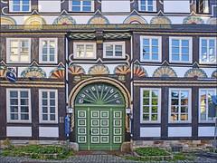 Bürgerhus (1560) (Runemaker) Tags: bürgerhus halftimbered fachwerk door tür windows fenster hameln hamelin germany deutschland facade façade architecture old building gebäude haus house