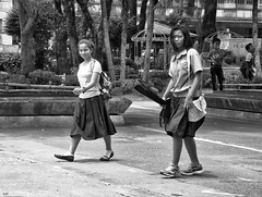 Happy and Curious (Beegee49) Tags: filipina walking smiling silay curious city philippines