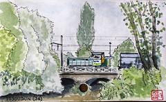 La France des Sous-Préfectures 36 (chando*) Tags: aquarelle watercolor croquis sketch france