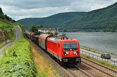 DBC 187 125, Assmannshausen (Sander Brands) Tags: trein treni treno trenuro züg züge güterzug kbs rhein rheintal assmannshausen rail locomotive 187 unit cargo electric