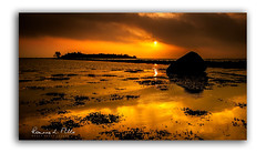 Islandhill Morn (RonnieLMills) Tags: rough island islandhill causeway dawn sunrise early morning sun clouds reflections high tide strangford lough water heart stone newtownards comber county down northern ireland