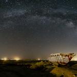 Ghost Ship and the Milky Way at Bombay Beach thumbnail