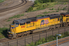 Heading to South St Paul (BNSF 711) Tags: unionpacific up5192 sd70m depottrack seventhstreet