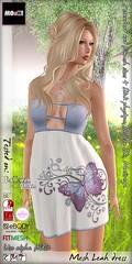 Leah dress (Dalriada Delwood) Tags: fabfree free gift group second life sl mooh