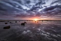 Scattered (Crouchy69) Tags: sunrise dawn landscape seascape ocean sea water coast clouds sky rocks sun long exposure reef sydney australia