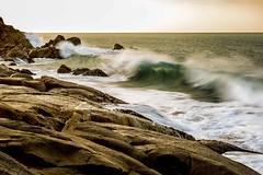 Southern Ocean Crashing Wave (trubble_07) Tags: wave crashing surf rocks white water dangerous danger slipperry slippery sunrise sunset voigtlander 58 58mm 14
