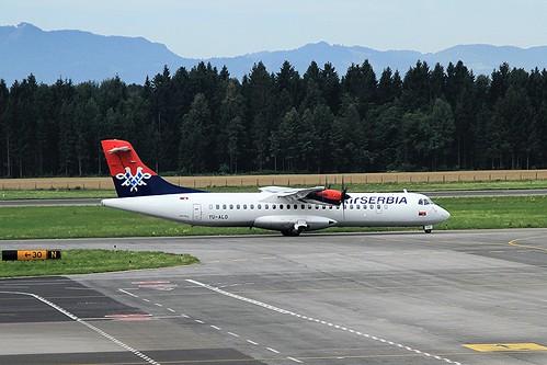 YU-ALO ATR72-202 Air Serbia Ljubljana 08-07-2017